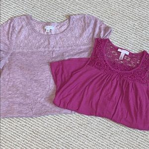 2 Pink maternity tops
